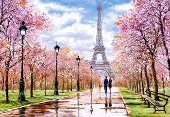 Romantic Walk in Paris