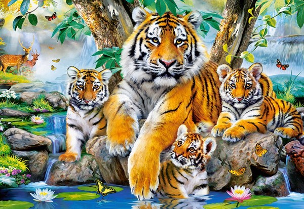 Tigers by the Stream