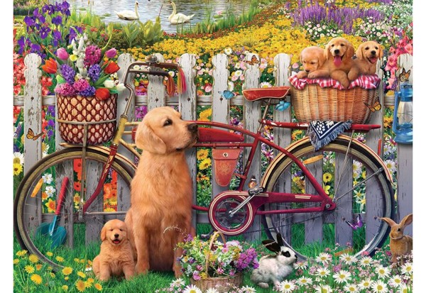 Cute Dogs in the Garden