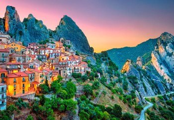 Sunrise over Castelmezzano