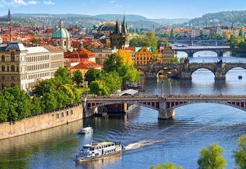 View of Bridges in Prague