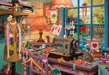 In the Sewing Room (Secret Puzzle)